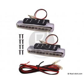 FEU 8 LEDS BLANC 12V 112MM X 2 PCES