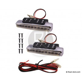 Light 8 LEDS White 12V 112MM X 2 PCES