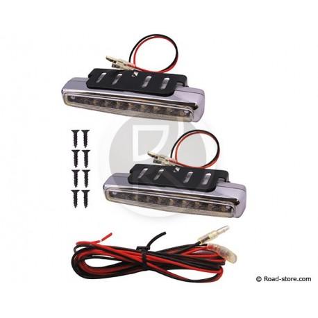 Licht 8 LEDS Weiß 12V 112MM X2 Stück