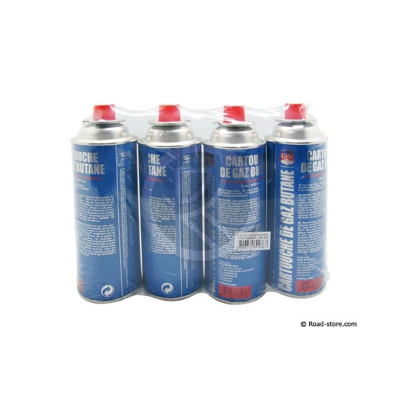 Recharge gaz butane lot de 4 pour rechaud road store - Recharge camping gaz ...