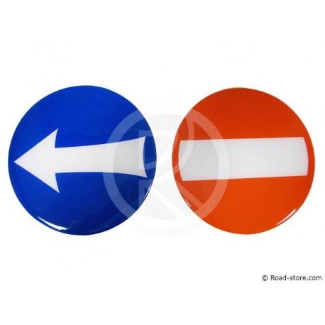 """Sticker """"no entry roads+Arrow"""" Ø 15CM"""