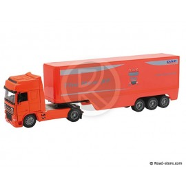 CAMION SEMI 1/32e DAF 95XF POT BELLY CONTENEUR 40' ROUGE