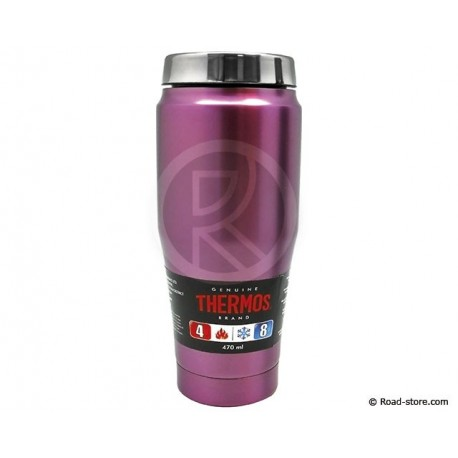 TUMBLER MUG FASHION THERMOS POURPRE 470 ML