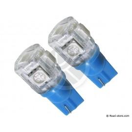 Glühbirne 5 SMD Leds Wedge T10 24V Blau X2