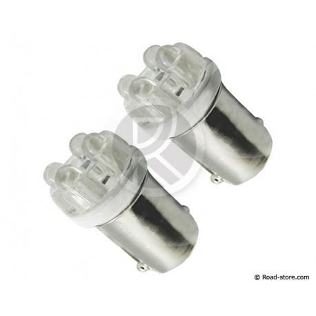 Glühbirne 4 LEDS BA9S 24V Weiß X2