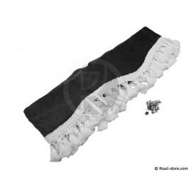 Samt Fransen  für Windschutzscheibe (2,3m x 20cm) Schwarz