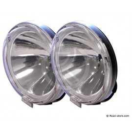 2x Headlight long range 24V white with crown