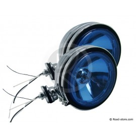 2x Fernscheinwerfer Blau mit krone - 12V