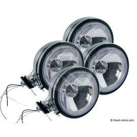 4x Headlight long range with with crown 12V