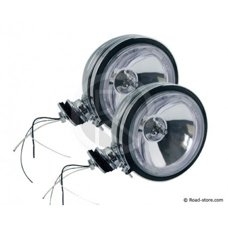 2x Headlight long range White with Crown 12V