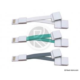 CABLE PLAT CONNEXION USB 2.0 vers 2 USB 2.0  3 COUL.