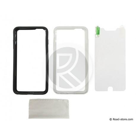 "COQUE iPHONE 6Plus (L 5,5"") ANTICHOC LOT DE 2 (NOIR + TRANSPARENT)"