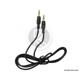 Auxiliary cable double jack 3.5mm