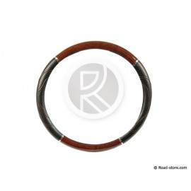 "Truck steering wheel cover 44-46 ""new design"" Imitation Burr Walnut"