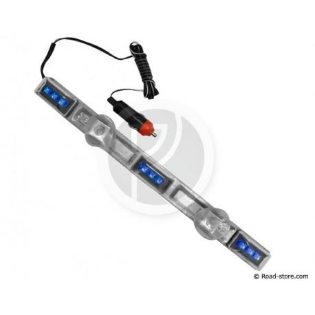 Interior Decoration Light 36CM 9 LEDS Cigarette lighter 24V Blue