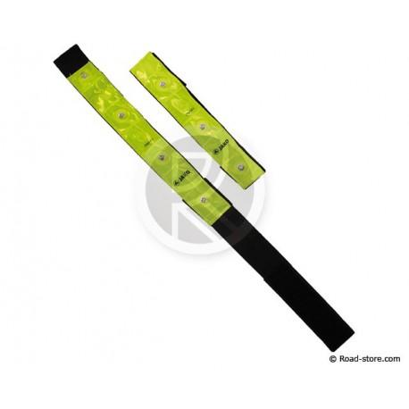 BRASSARDS DE SECURITE HAUTE VISIBILITE 4 LEDS x2