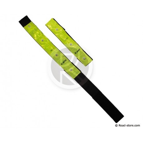 Safety armbrand LED High visibility 4 LEDS x2