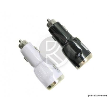 PRISE USB SUR AC 12/24V 2100mA SPECIAL TABLETTES NOIR OU BLANC