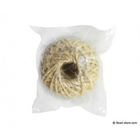 Ball of natural fiber string