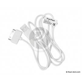 Kabel USB to Apple 30-Pin Dock 1m Weiß