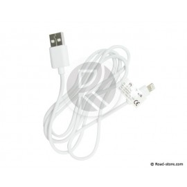 CABLE USB VERS APPLE LIGHTNING 1M BLANC