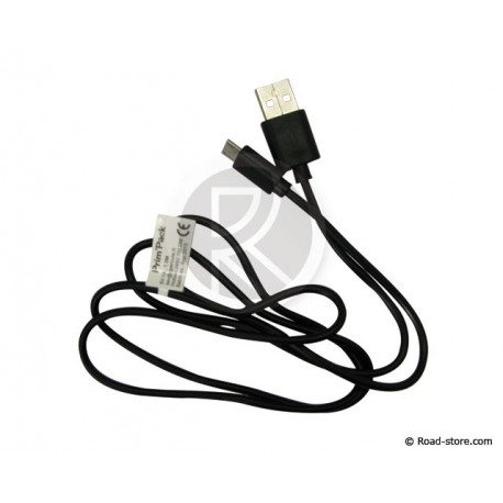 CABLE USB VERS MICRO USB 1M NOIR