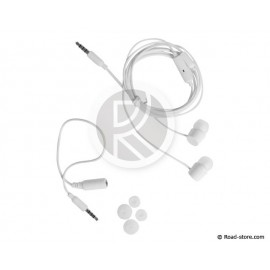 ECOUTEURS STEREO INTRA-AURICULAIRES + MICRO KIT-PIETON JACK 3,5MM