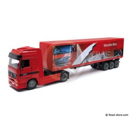 Truck 1/43e MERCEDES BENZ ACTROS 1857 Trailer Red