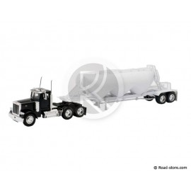 Truck 1/32e peterbilt model 379 pneumatic dry bulk trailer