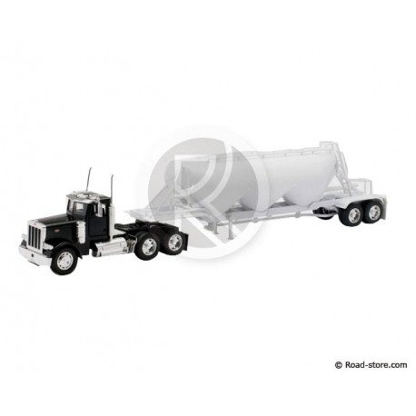 CAMION SEMI 1/32e PETERBILT MODEL 379 PNEUMATIC DRY BULK TRAILER
