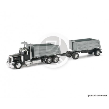 CAMION SEMI 1/32e PETERBILT MODEL 379 TWIN DUMPS TRUCK