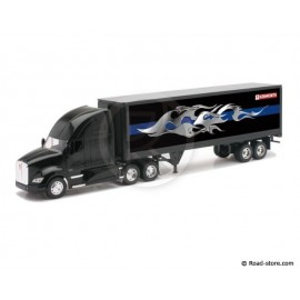 Truck 1/32e kenworth T700 container black