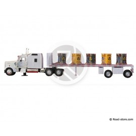Truck 1/32e KENWORTH W900 Tray with tanks