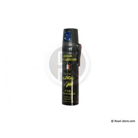 BOMBE ANTI-AGRESSION PUNCH CS GAZ GRAND MODELE 75ML