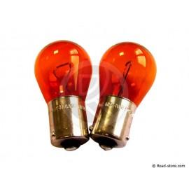 Bulb orange 12V PY 21W BA15S x2