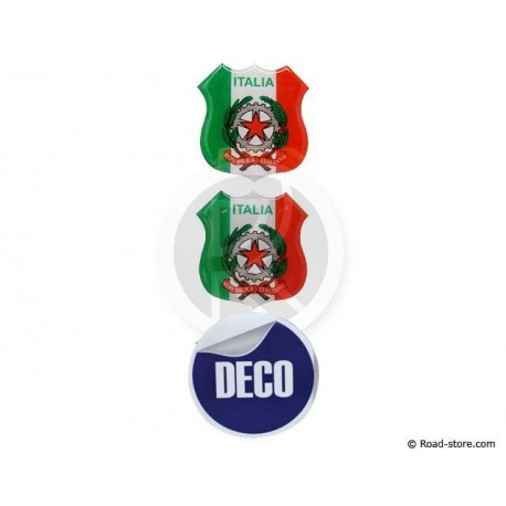 MINI ECUSSON ADHESIF A RELIEF ITALIA x2 + BRASIL x1 (48 x 52 mm)
