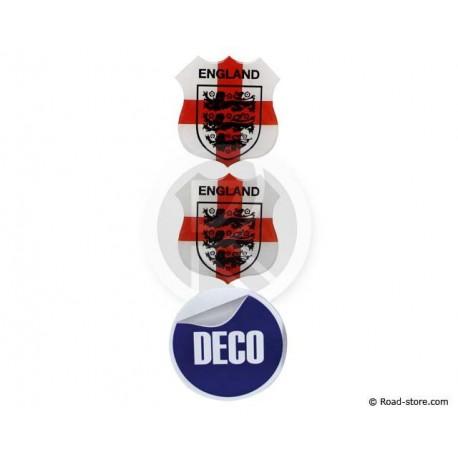 Relief Sticker Klebstoff ENGLANDx2 BRASILIENx1 - 48x52 mm
