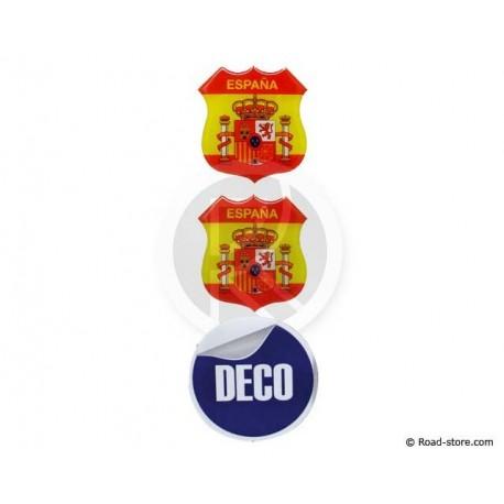 Relief Sticker Klebstoff SPANIENx2 BRASILIENx1 48x52 mm