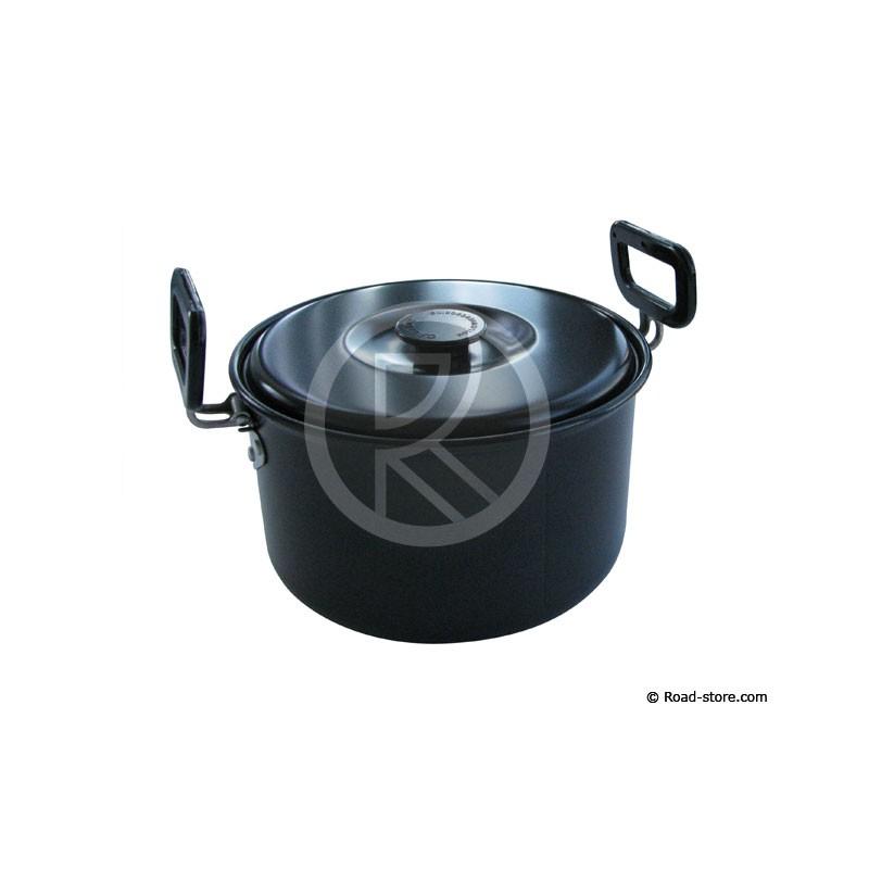 Casserole alu 2 8l 190 x 73mm a couvercle poignees pliables road store for Porte couvercle casserole