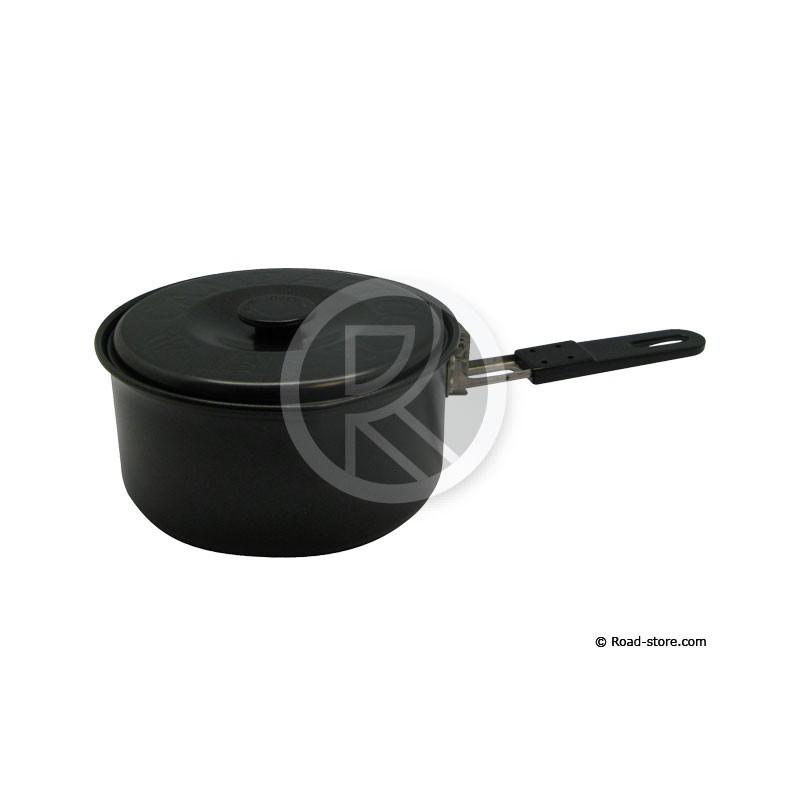 Casserole alu 1 1l 150 x 73mm a couvercle manche pliable prim 39 truck road store for Porte couvercle casserole