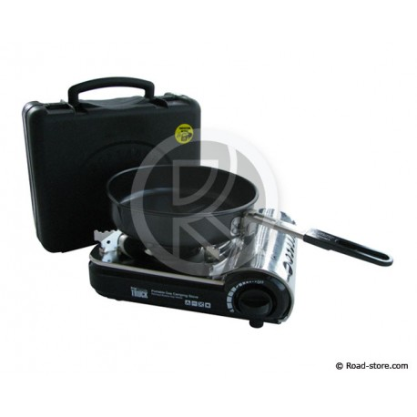 SET RECHAUD GAZ PORTABLE MINI + POELE 20CM