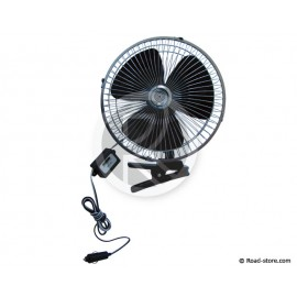 Rotating fan with clamp 24V ø25cm