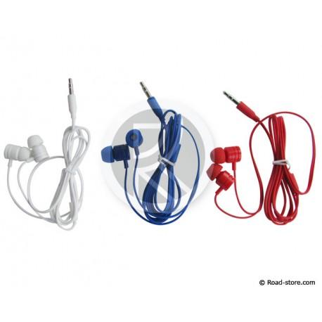Stereo Headphones jack 3,5mm white, blue, red