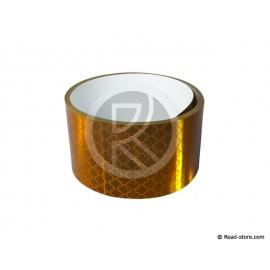 RUBAN REFLECHISSANT 2,75M X 5CM JAUNE (Homologue E11)