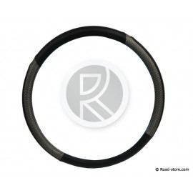 Steering wheel cover 44-46 black/silver