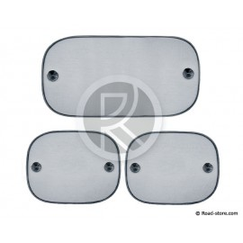 Sunshade with suction pads 3x