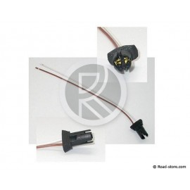 Socket + Cable for Bulb (W2,1 x 9,5D) without cap