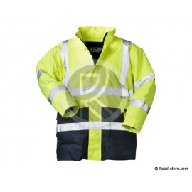 VESTE PARKA 2EN1 XL HAUTE VISIBILITE JAUNE ISO 20471 (Sebastian)