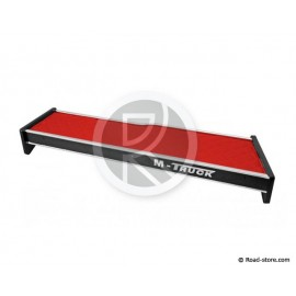 Table for cabin Man TGX until 2014 Long + Drawer skai red