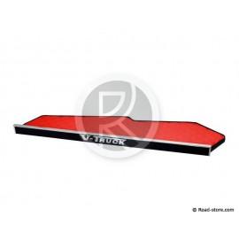 TABLETTE POUR CABINE VOLVO FH4 DEP2013-LONGUE SKAI ROUGE(sans tiroir)